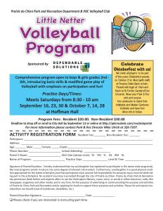 Little Netter Volleyball Program @ Little Netters