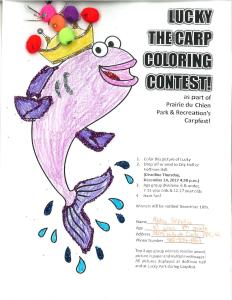 Lucky the Carp Coloring contest winners