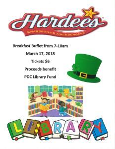 Library Breakfast Buffet Fundraiser at Hardess