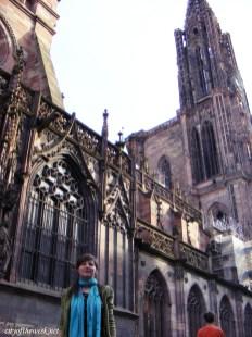 me in front of Notre Dame de Strasbourg