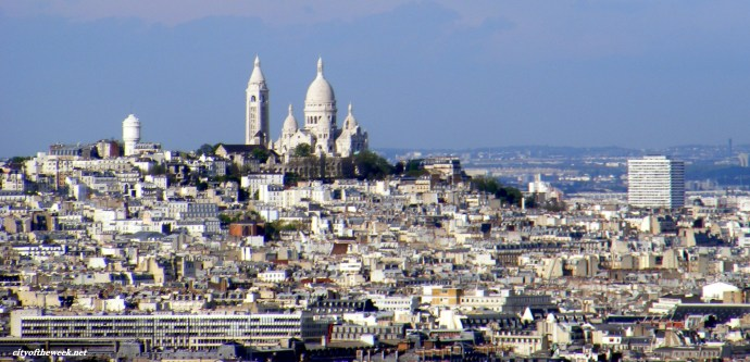 the Sacre Coeur seen from the Eiffel tower