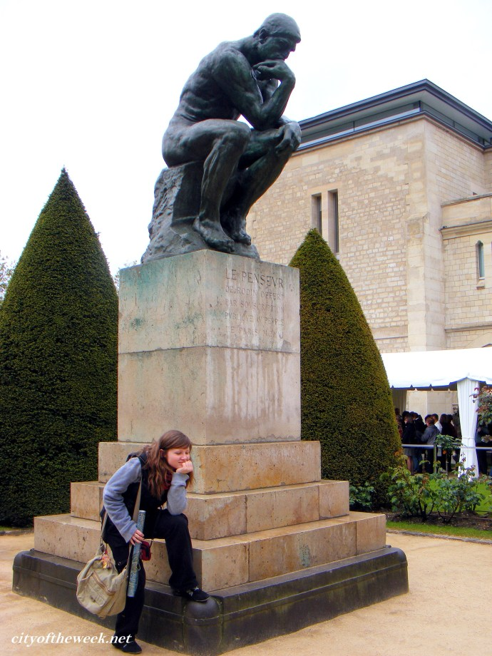 with the Thinker