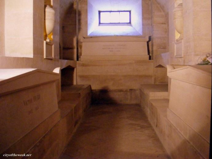 Victor Hugo's & Alexandre Dumas's coffins