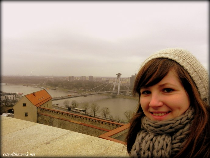 view of the bridges of Bratislava