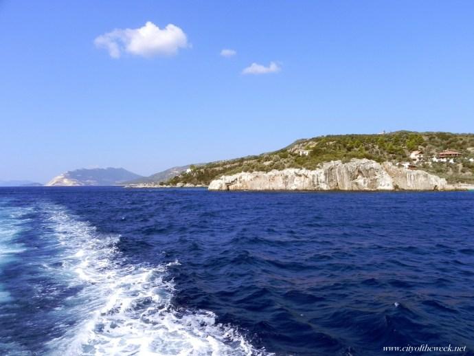 leaving behind Volos port