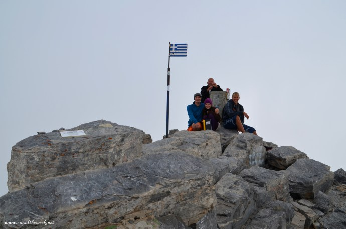 at the top of Greece!
