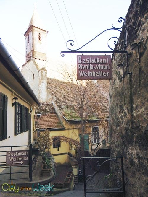 Wine cellar on Tower Street Sibiu