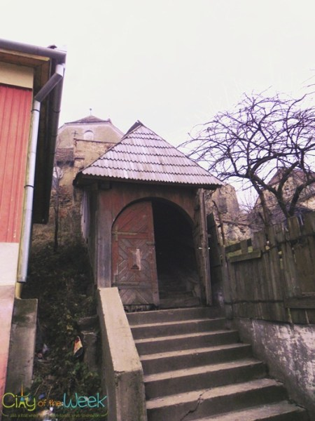 """""""entrance"""" to the Saxon Medieval Church of Buzd 