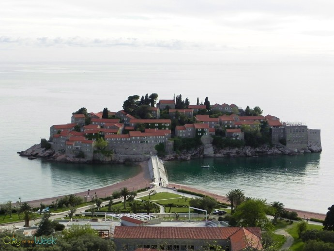 photo taken last year of Sveti Stefan, Montenegro