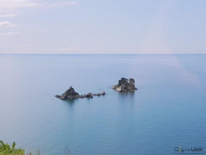 islet seen from the road towards Budva