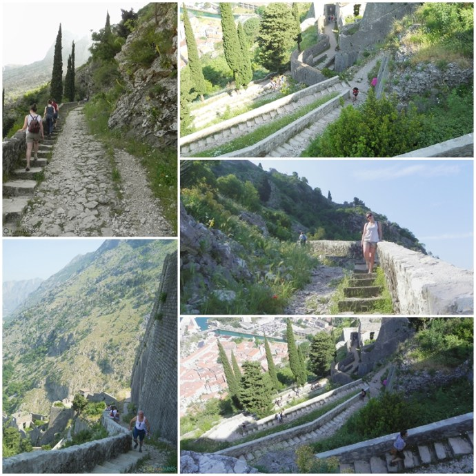 Climbing up to the Castle of San Giovanni in Kotor