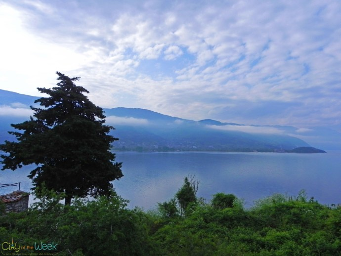 clouds lifting from Lake Ohrid