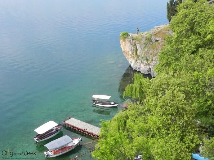 stunning cliff at Ohrid Lake