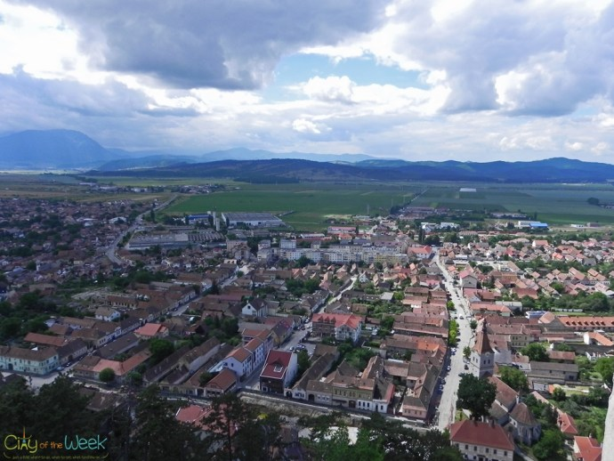 view from Rasnov Fortress, Romania