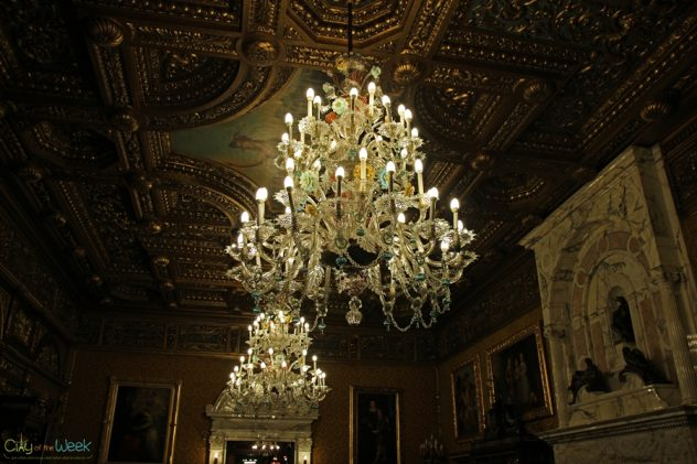 Chandelier at Peles castle