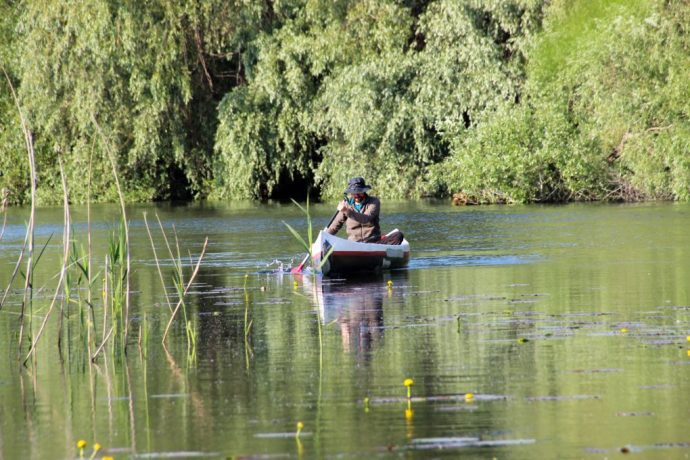 Canoeing in the Danube Delta, Romania