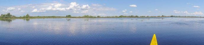 Canoeing in the Danube Delta