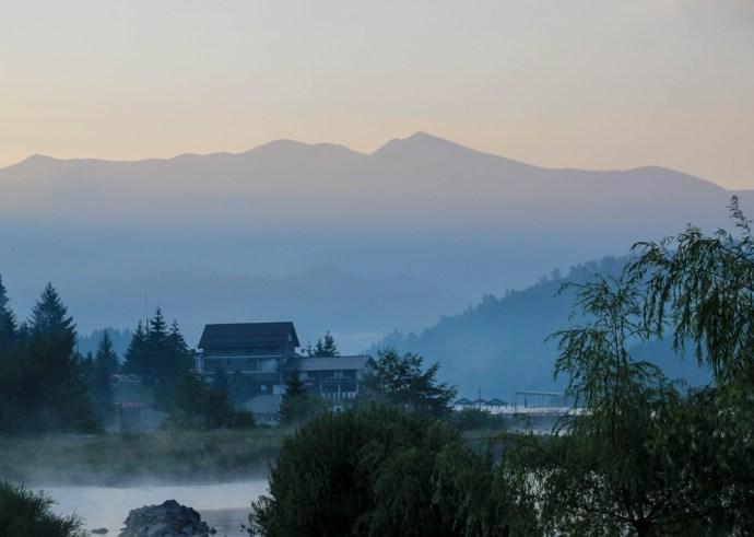 Colibita Lake, Calimani Mountains, Transylvania, Romania