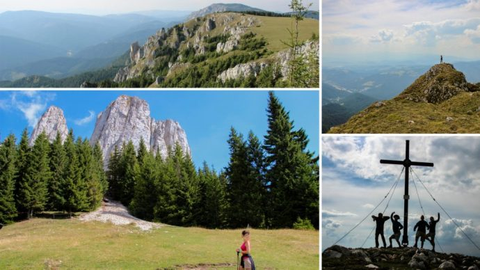 Hiking in the Hasmas Mountains of Romania