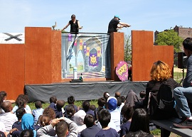 CityParks PuppetMobile presents Cinderella Samba at SummerStage in Central Park as a part of Family Day