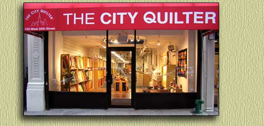 <Photo of The City Quilter from the street>