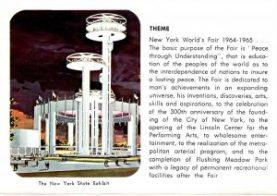 Souvenir postcard featuring Phillip Johnson's New York State Pavillion, 1964. Courtesy of Patty Knoetgen, Private Collection.