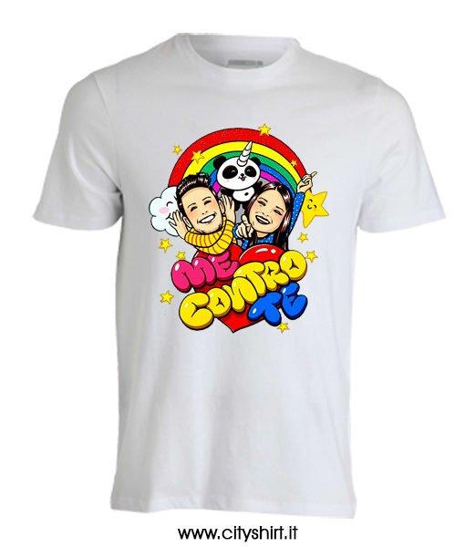T-Shirt Rosa Me Contro Te Maglietta Cotone 100/% Bambino Bambina t Shirt sof/ì e lu/ì