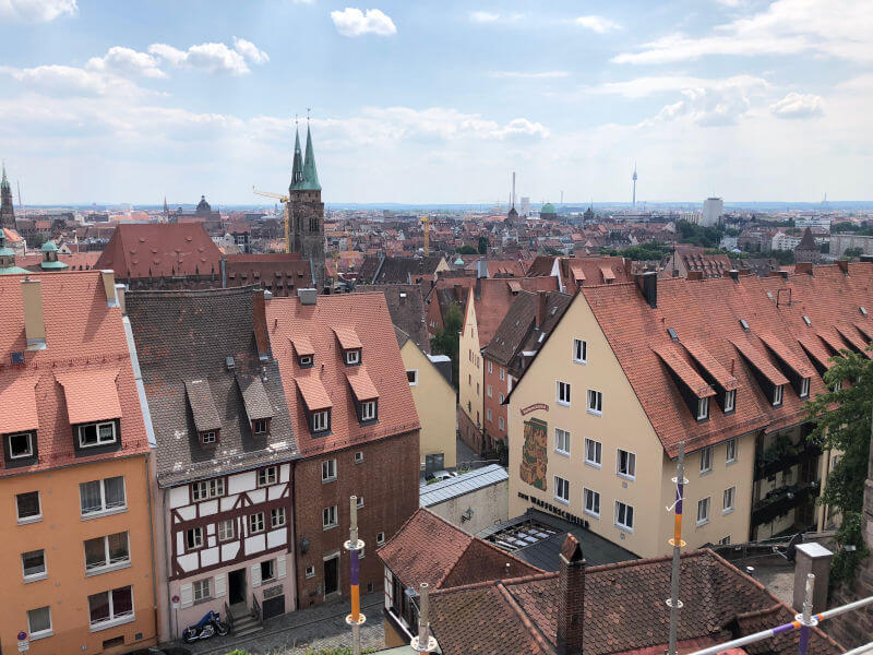 Views of Nuremberg from the Castle