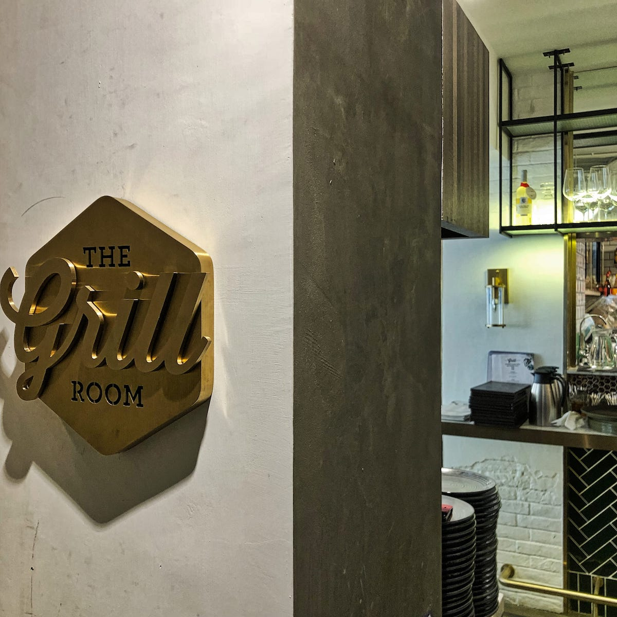 the Grill Room 餐廳環境入口