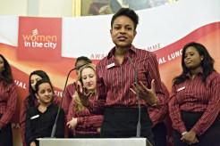 An intern addressing 300 women!