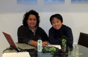 Hua and Sophia in their office