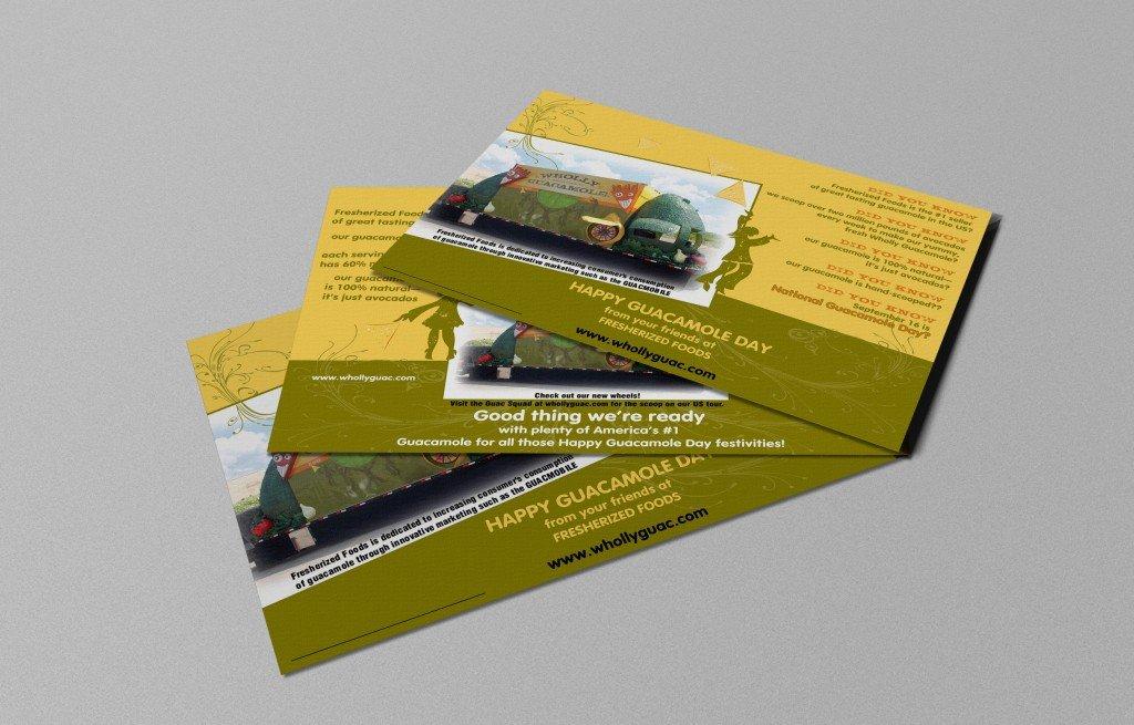 wholly guacamole postcards
