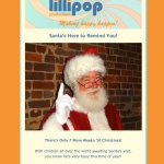 lollipop holiday ecampaign
