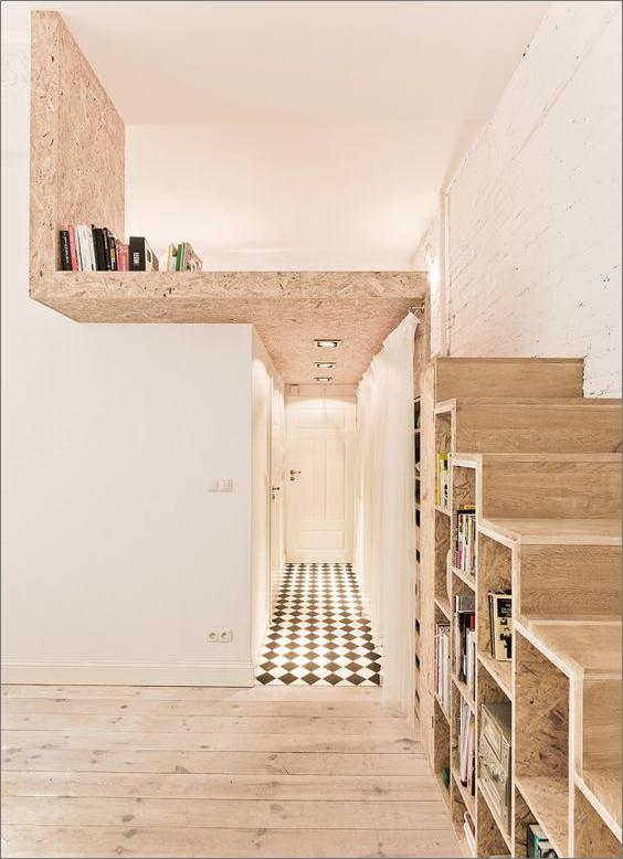 déco agencement escalier mezzanine osb sur-mesure
