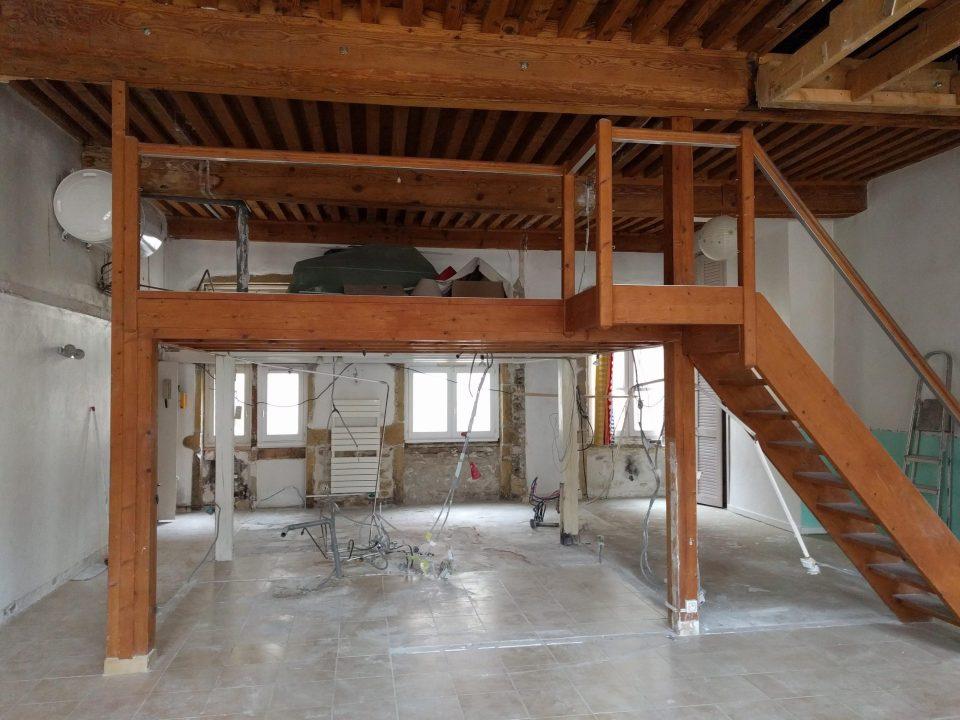 rénovation canut croix-rousse lyon - agence CITYZEN.D - photo avant travaux