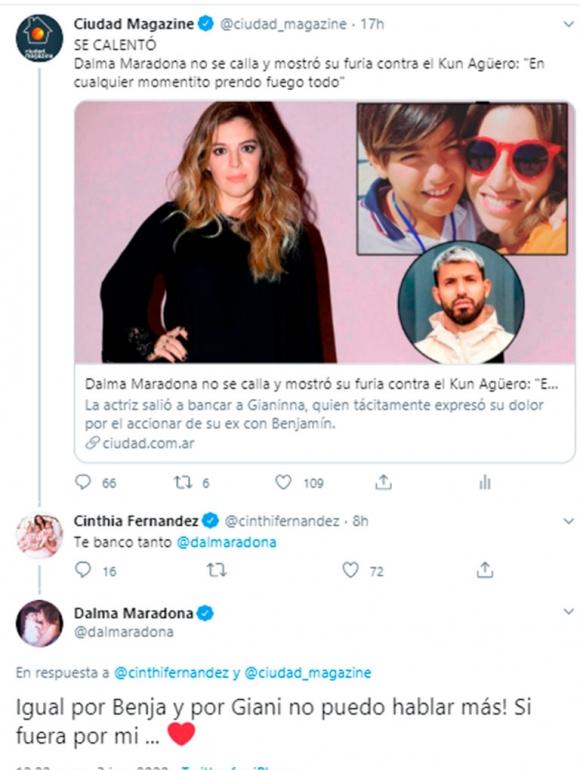 """La """"medida"""" que Gianinna le impuso a Dalma Maradona en medio del escándalo con el Kun: """"Mi hermana me censura"""""""
