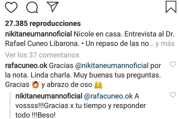 """Pampita, irónica sobre el ¿romance? de Nicole Neumann con Rafael Cúneo Libarona: """"A mí un entrevistado nunca me manda un abrazo de oso"""""""