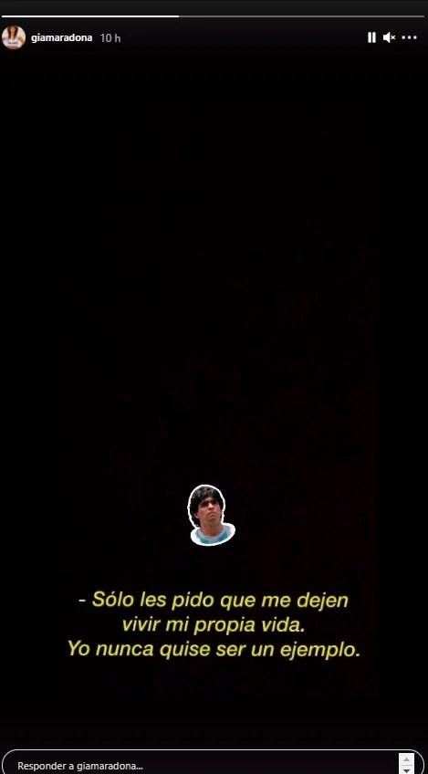 """Gianinna Maradona compartió una significativa frase de Diego, a 15 días de su muerte: """"Nunca quise ser un ejemplo"""""""