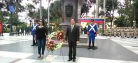 Diputados del CLEL rindieron homenaje al Libertador Simón Bolívar