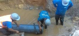 Hidrolara repara filtraciones en la Avenida Vargas y San Jacinto