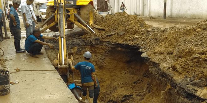 Hidrolara realizó trabajos de recuperación, estabilización y mantenimientos