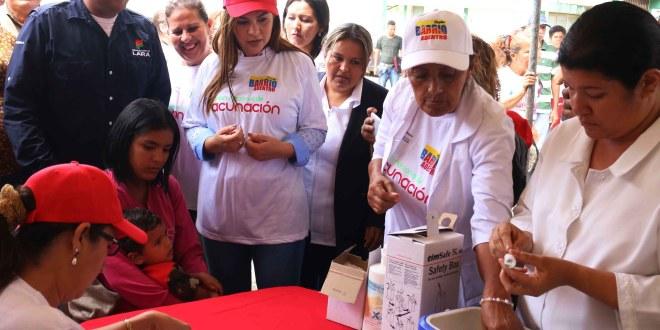 Más de 5 mil personas atendidas durante inicio de la Semana de Vacunación en Las Américas