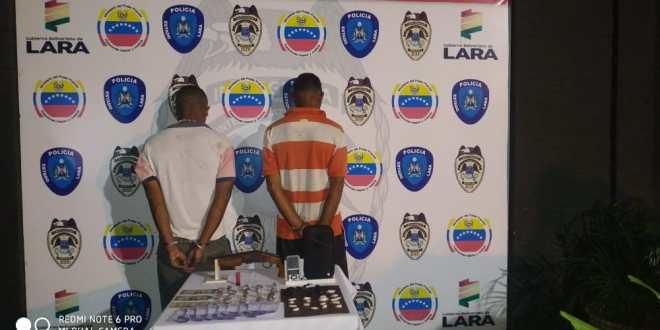 En La Sábila: Policía del estado Lara detiene dos sujetos por venta de droga