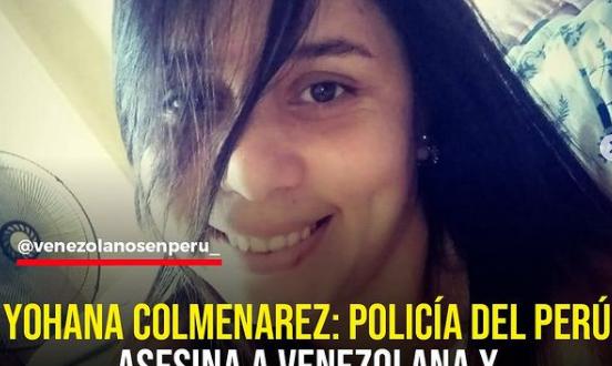 Policía peruana asesina a venezolana embarazada de balazo en la cabeza