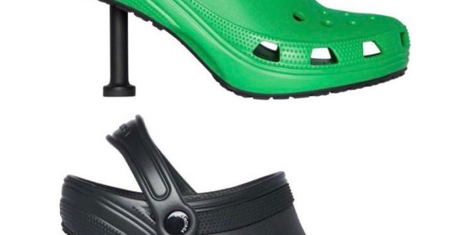 Balenciaga y Crocs presentan un zueco con tacón de aguja y la Red estalla con bromas (+FOTOS)
