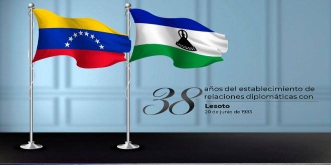 Venezuela saluda al Reino de Lesoto por el 38° aniversario del establecimiento de las relaciones diplomáticas entre ambas naciones