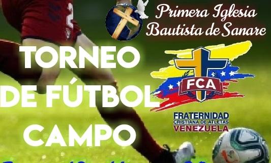 FIESTA DEPORTIVA EN SANARE / Fraternidad Cristiana de Atletas  forma a niños y jóvenes a través de la práctica del Fútbol Campo