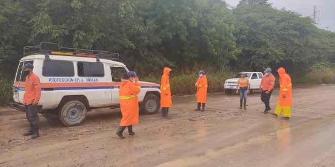 Protección Civil y Administración de Desastres desplegados ante lluvias intensas en Lara