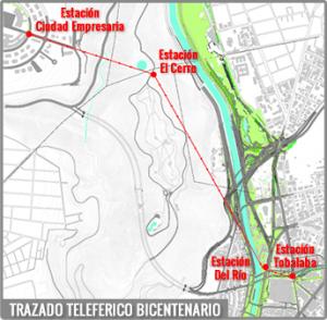 teleférico map