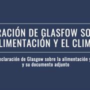 Declaración de Glasgow alimentación y clima